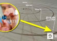 Opravdový model Sluneční soustavy
