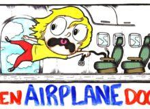Co by se stalo, kdybyste otevřeli dveře v letadle za letu