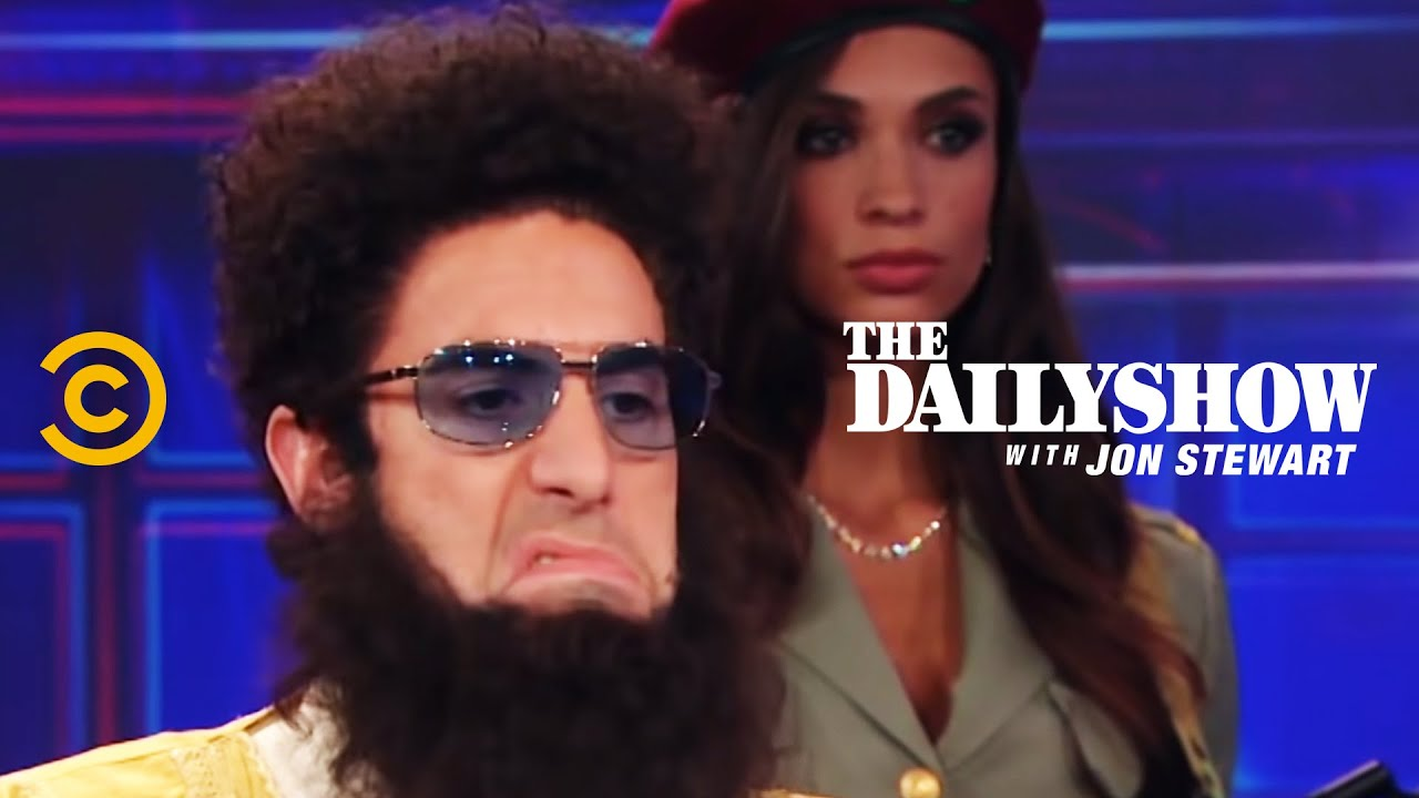Diktátor Aladeen a rozhovor v The Daily Show
