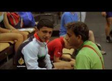 Íránský zápasník je nucen předstírat zranění