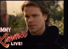 Jimmy Kimmel si na Oscarech podává Matta Damona