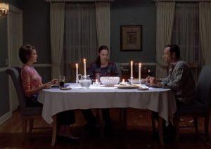 Krása scén s večeří