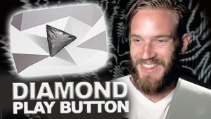 PewDiePie – diamantové tlačítko od YouTube