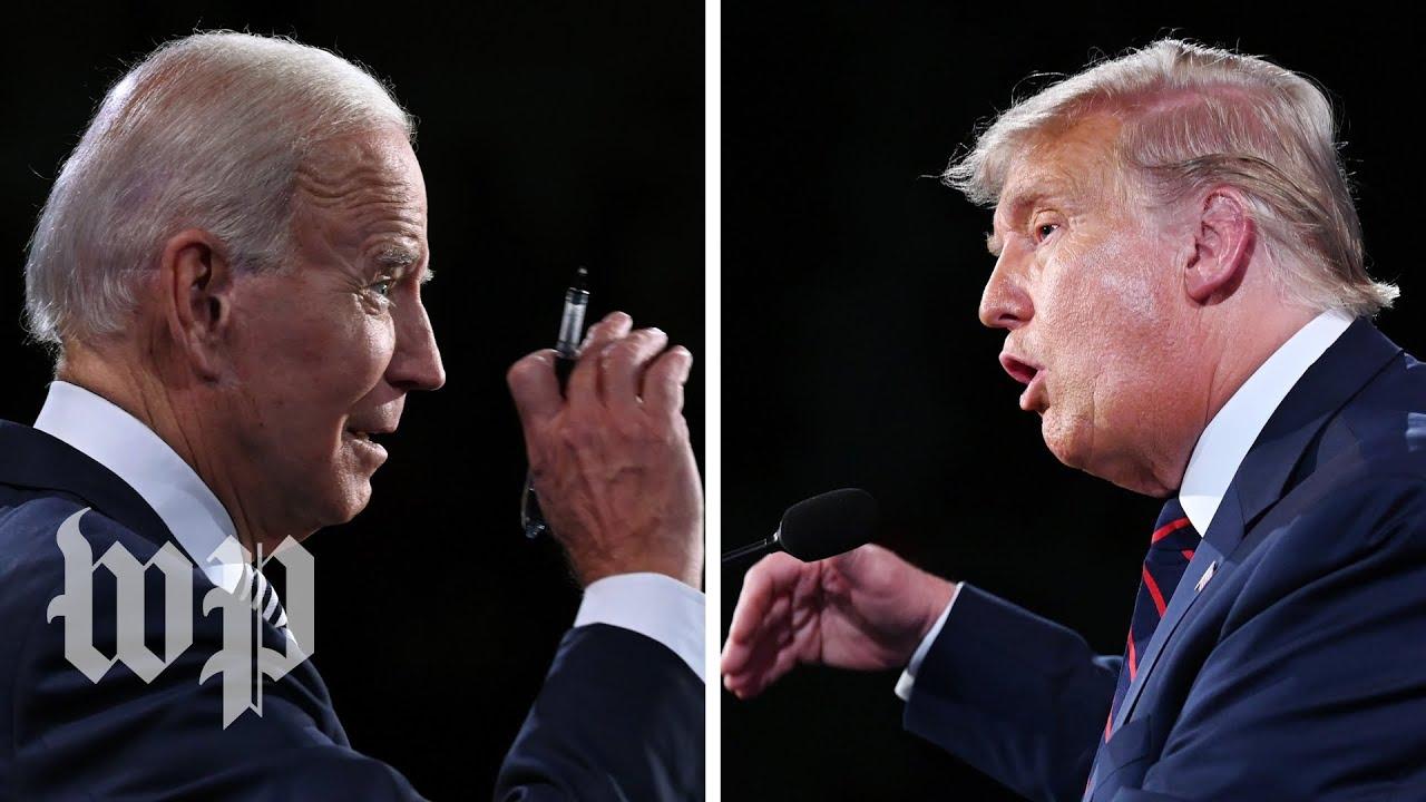 Prezidentská debata ve třech minutách (Trump vs. Biden)