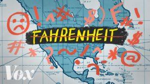 Proč Američané používají stupně Fahrenheita?