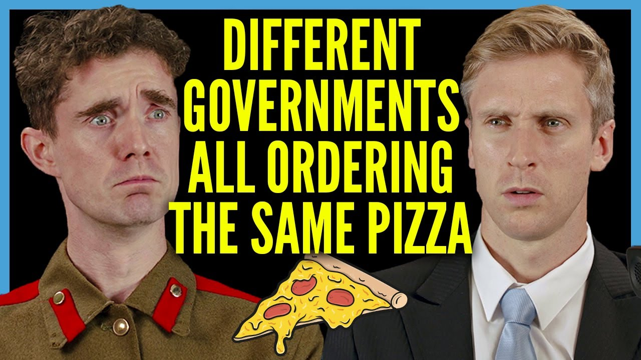 Různé vlády si objednávají pizzu