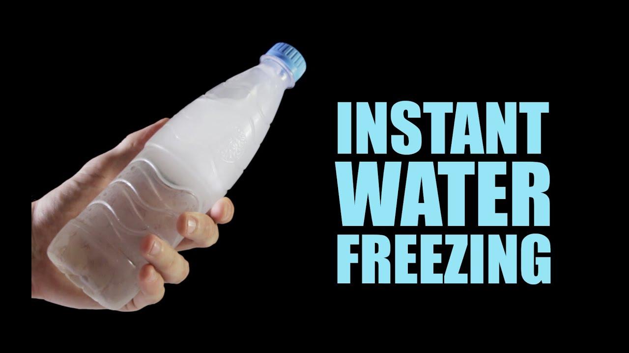 Zkus si experiment: Okamžitě zamrzlá voda